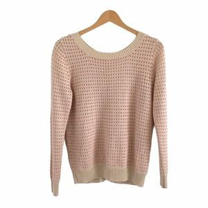 Alice Moon Collection Pink & Tan Knit Sweater
